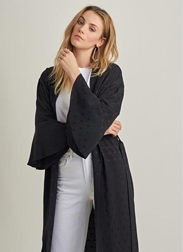 NGSTYLE Püsküllü Kimono Ceket Siyah